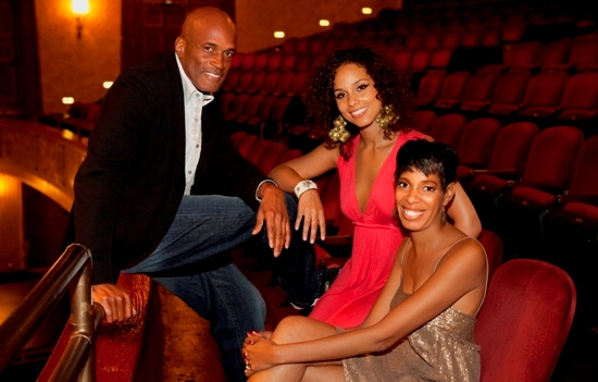 Stick Fly' director Kenny Leon, producer Alicia Keys, and playwright Lydia Diamond.